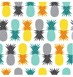 Geometric pineapples summer colorful vector