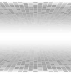 Grey Mosaic Tile Square Background Perspective vector image
