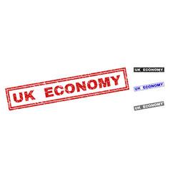 Grunge uk economy textured rectangle watermarks vector
