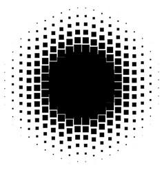 Halftone graphics with squares monochromatic vector
