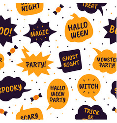 halloween speech bubbles comic bubbles black vector image