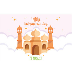 Happy independence day india 15th august vector