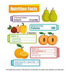 healthy food with nutritional facts vector image
