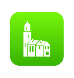 houses icon digital green vector image