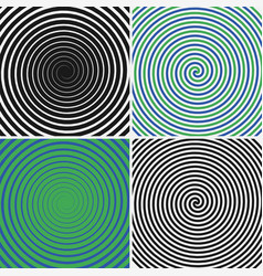 hypnotic circles set vector image