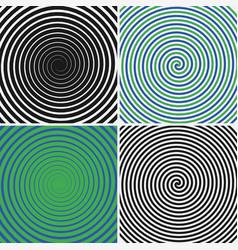Hypnotic circles set vector