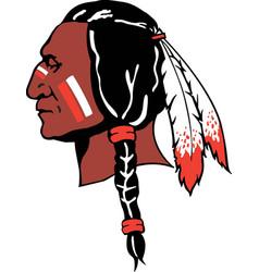Indian head logo mascot vector