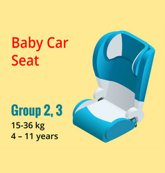 isometric baby car seat group 23 vector image