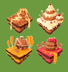 Isometric sweet islands vector