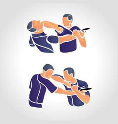krav maga sparring cartoon vector image