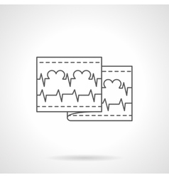 Love cardiogram flat line icon vector
