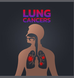 Lung cancers icon design infographic health vector