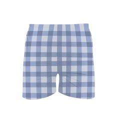 Man square pattern shorts vector