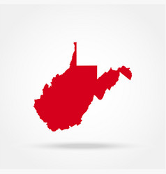 map us state west virginia vector image
