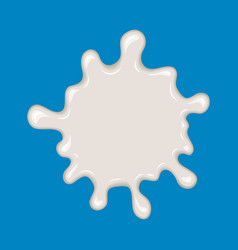 Milk splash isolated on blue vector