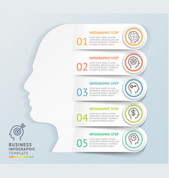 modern infographics head design template vector image
