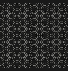 monochrome seamless pattern dark linear mesh vector image