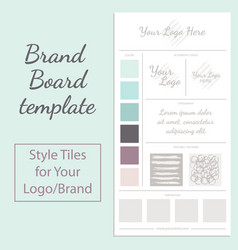 Moodboard template isolated on white vector