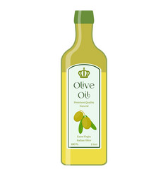Olive oil bottle of natural oil organic liquid vector