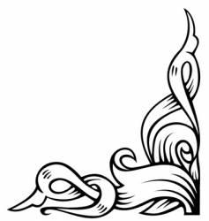 Ornamental corner vector