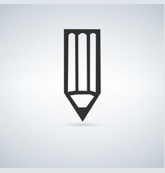 pencil icon isolated vector image