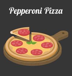 Pepperoni pizza vector