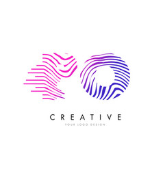 Po p o zebra lines letter logo design with vector