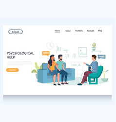 psychological help website landing page vector image