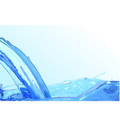 realistic water stream clean wave water surface vector image