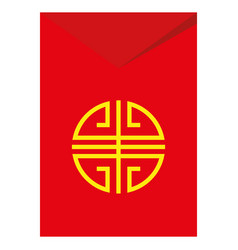 red envelopes gold coin vector image
