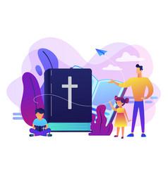 Religious summer camp concept vector