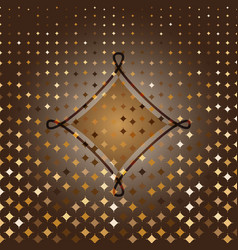 rhombus custom gold halftone abstract background vector image