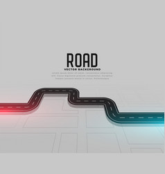 Road map journey route concept background vector