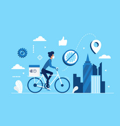 safe contactless city delivery service concept vector image