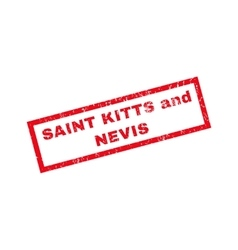 Saint Kitts And Nevis Rubber Stamp vector