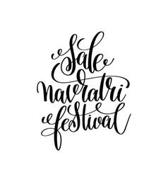 Sale navratri festival hand lettering calligraphy vector