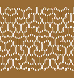 Seamless geometric pattern heart-shaped figures vector