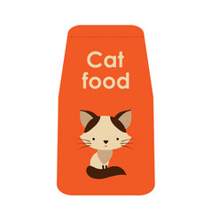 siamese cat pet food packaging vector image