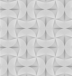 Slim gray striped semi circles with neck vector