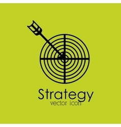 Strategy isolated icon design vector