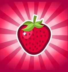 Strawberry icon design vector