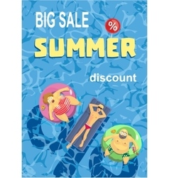 Summer holiday Big sale percentage sign vector