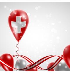 Swiss flag on balloon vector