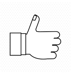 thumbs up icon design vector image