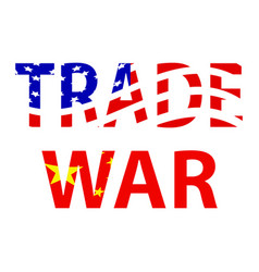 trade war background vector image