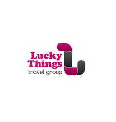 travel group lucky things sign vector image