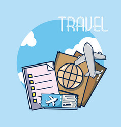 vacations and travel vector image