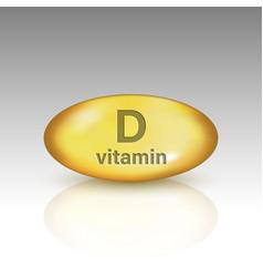 Vitamin d vitamin drop pill vector