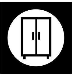 wardrobe icon vector image