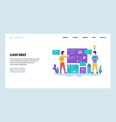 web site design template client brief and vector image